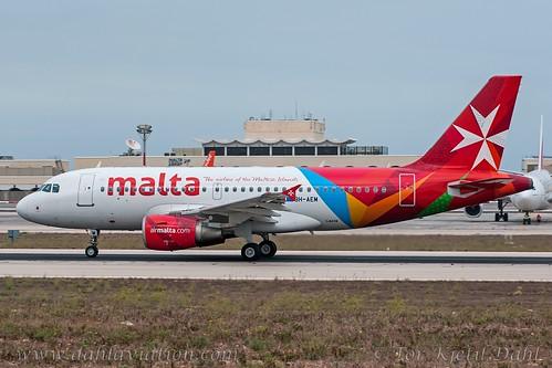 "9H-AEM, Air Malta, Airbus A319-112 - cn 2382.""Birgu"""