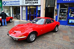 Hamilton (View of a Opel GT) (Netty 78) Tags: red classic 1969 sports car germany scotland automobile europe european display britain south united union great hamilton kingdom grand german motor 1960s gt opel tourer lanarkshire 2015 worldcars