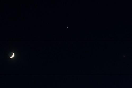 Moon Jupiter Venus Triple Conjunction