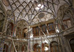 The Boroujerdi House, Isfahan Province, Kashan, Iran (Eric Lafforgue) Tags: travel house building history horizontal architecture photography asia day arch iran arcade indoor persia nobody nopeople landmark palace historic indoors ornament dome destination ornate orient kashan kachan ornamentation colorimage   traveldestination colourimage  iro isfahanprovince kamalolmolk iranianculture  builtstructure boroujerdi  shahinshahr iran150699