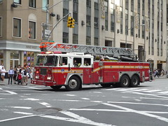 FDNY Seagrave Ladder (JLaw45) Tags: road street new york city nyc red urban usa beach apple public america truck island fire town big state metro manhattan united duty north engine security best safety midtown queens area vehicle government service metropolis states ladder emergency avenue heavy firefighter northeast protection fdny department mid metropolitan firefighters seagrave
