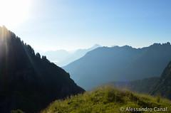 Panorama dal rifugio Pian de Fontana