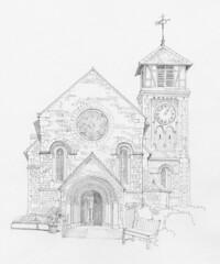 Old St Pancras Church, London: West Front