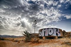 Bunker (cuellar) Tags: sky beach clouds landscape bunker almeria cabodegata genoveses