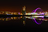 squinty bridge zoom (murphy197) Tags: anneflaherty nikond7100 tokina1116mm longexposure glasgow zoomburst reflections clyde riverclyde bridge colour scotland