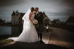 Winter Wedding! (Samantha Nicol Art Photography) Tags: wedding bride groom scotland ingliston county club off camera flash samantha nicol art photography photographer dress kilt night dark bouquet