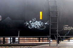 swerv (timetomakethepasta) Tags: swerv freight train graffiti ones art tanker handstyle