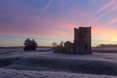 Knowlton Church (Derek Robison) Tags: dorset abandoned landscape ruins dawn frost architecture knowltonchurch bluehour places