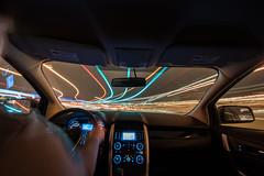 D6339_CM-6 (MoDOT Photos) Tags: bycathymorrison driver hads lighttrails modot night seatbelt steeringwheel movement blue red vehicle transportation