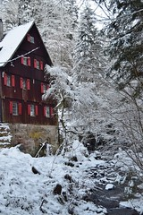 Klingenmühle in Welzheim (chrissie.007) Tags: 20170106 klingenmühle welzheim schwäbischfränkischerwald schneelandschaft mühle wieslauf remsmurrkreis badenwürttemberg deutschland chrissie
