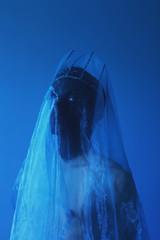 KROWN (Kalderone) Tags: neptune kalderone kalderonecom series studio atmosphere blue canon 50mm portrait magazine art abstract veil crown