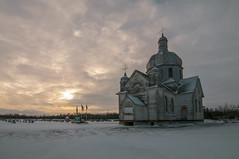 Spaca Moskalyk (Len Langevin) Tags: abandoned old building church orthodox dome alberta canada spaca moskalyk ukrainiancatholic nikon d300s tokina 1116 decay