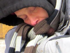 #Homeless in Indy and #sleeping on a sidewalk. (kennethkonica) Tags: canonpowershot canon global random hoosiers outdoor talking candid street streetphotography marioncounty midwest america usa indiana indianapolis indy hat homeless people persons sleep winter cold weather hoods january man face bestshotoftheday scarf atmosphere