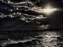 Blank (Gremxul) Tags: sea seascape iphone malta sliema storm clouds drama cloudscape eye weather winter