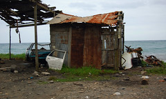 Little Shack By the Sea (~ Lone Wadi ~) Tags: annottobayjamaica westindies caribbean seaside ocean tropical shack tinroof rusty junked beach rusted abandoned abandonment decrepit