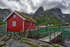 Rorbu (marko.erman) Tags: reine lofoten norway moskenesøya sony island archipelo landscape mountains sea clouds panorama nature travel popular pov outside rocks slopes beauty beautiful serene serenity quiet codfish rorbu