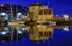 Nuit de Honfleur (o.penet) Tags: honfleur reflets miroirs mirrors blue 10000views penet boats normandy ports water night nikon d750 impressionisme peintres urban sunset