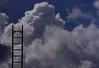 HEMELvaart. (Warmoezenier) Tags: clouds hemelvaart sluiskil stairs trap tunnel werk wollken work