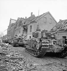 "A column of Churchill tanks • <a style=""font-size:0.8em;"" href=""http://www.flickr.com/photos/81723459@N04/18052741773/"" target=""_blank"">View on Flickr</a>"