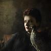in the studio... (martikson) Tags: light portrait woman bird face lady dark hazelgrouse martikson