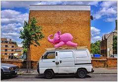 Pink Elephant Proof (Explore 15-6-15), South East London, England. (Joseph O'Malley64) Tags: uk greatbritain pink england elephant london britain british pinkelephant southeastlondon