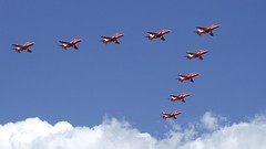 Red Arrows Guildford 1 (ianwyliephoto) Tags: june aircraft jet surrey guildford redarrows raf 2015 themount flypast armedforcesday