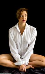 Kaetlin - White Shirt (benearlpix) Tags: garter girl shirt lingerie intimate unbuttoned kaetlin