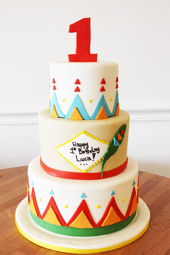 Native American Pattern Custom Cake