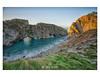 Golden Light. (Emily_Endean_Photography) Tags: jurassiccoast jurassic lulworth stair hole rock cliffs formations history seascape sea seaside dorset nikon lee leefilters longexposure sunrise