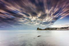 Cala del Charco Villajoyosa (canonixus1) Tags: cala canonixus1 canon6d canon1740 cielo elcharco atardecer sunset sky nubes clouds filtros firecrest filter nisi raymaster largaexposicion longexposoure landscapes