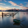 Watery Wheelbarrow, Derwentwater, Lake District (MelvinNicholsonPhotography) Tags: sunrise crowpark lakedistrict derwentwater bay water earlymorning reflections gate bird wheelbarrow longexposure fence island fell mountains gitzo manfrotto leefilters melvinnicholsonphotography landscapephotography lake brilliant