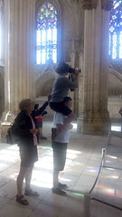 Taking a photo of King John - Batalha