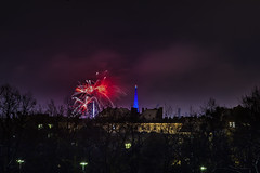 _MG_5230 WOSP 2017. (Sakuto) Tags: fireworks light night city poznan wosp landscape tower blue colors outdoor colorful poland sky