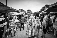 Looking back (Laixiang Pow) Tags: street streetphotographer monochrome bw black white urban culture people pasar malan malacca melaka malaysia asia asian planet earth heritage men man male human art cafe life lifestyle go