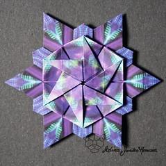 Iimori Star D (Day 62) (Yureiko) Tags: yureiko tessellation papierfalten papier origami paperfolding paper