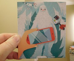 Fuzzy Yeti Gift Card (danieljsf) Tags: bestbuy yeti fuzzy gift card picture photo takeaphoto cryptid giftcard abominablesnowman