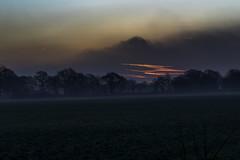 Break Of Dawn (Andi Hardman) Tags: landscape sunrise red morning sky clouds dawn fog field mist of break