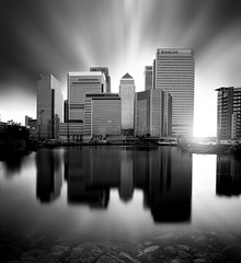 This is London (Glenn 07) Tags: canarywharf barclays london cityscape bigstopper longexposure londondocks motion canon