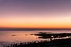 Quiet Sunset With New Moon (Ziad Hunesh) Tags: zhunesh canon 650d sigma landscape seascape sunset colors sea arabiangulf rocks water longexposure crescent moon qatar dukhan twilight photography light