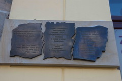 Commemoration of the Jews in Krosno, at the plaque commemorating the former Jewish ghetto_Mizroch__Mizroch_MZE_2242