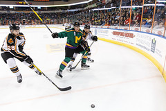"Missouri Mavericks vs. Quad City Mallards, January 21, 2017, Silverstein Eye Centers Arena, Independence, Missouri.  Photo: John Howe / Howe Creative Photography • <a style=""font-size:0.8em;"" href=""http://www.flickr.com/photos/134016632@N02/32487055006/"" target=""_blank"">View on Flickr</a>"