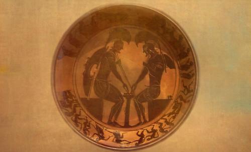"Petteia - Ludus Latrunculorum  / Iconografía de las civilizaciones helenolatinas • <a style=""font-size:0.8em;"" href=""http://www.flickr.com/photos/30735181@N00/32522205365/"" target=""_blank"">View on Flickr</a>"
