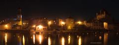 Yvoire - Lac Léman (FlΩmega) Tags: florianmorlotphotographies d700 panorama yvoire lac léman reflet eau nikkor50mmf14d nikkor nikon architecture chateau eglise pierre bateau nuit night