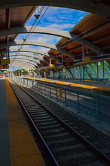 LRT Station (stevenbulman44) Tags: roof sky calgary station architecture train canon tracks structure alberta lrt 1740f40l 5dmarkii
