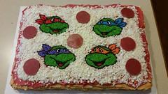 Teenage Mutant Ninja Turtles Cake by Christine and Addie, Linn County, IA, www.birthday