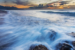 ... (nodie26) Tags: ocean sea color rock sunrise waterfall long tour slow taiwan flowing oceans  hualien            naturesfinest   eow        aplusphoto      stunningphotogpin