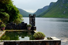 glenveagh castle (mulligan.janice) Tags: old ireland lake mountains castle swimmingpool peninsula donegal