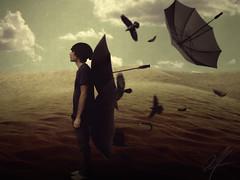 Umbrow (Aaroncillo) Tags: selfportrait art digital umbrella photoshop dark photography artistic surrealism creative surreal manipulation ps fantasy dreams imagination conceptual gil crows rare ravens aarón phoromanipulation aaroncillo
