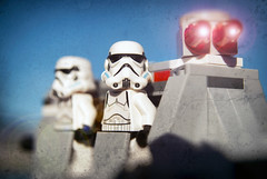 Stormtroopers Are A Moody Bunch (hbmike2000) Tags: trooper starwars nikon lego bokeh helmet dirt stormtrooper minifig d200 textured minifigure buildingblocks blasters hcs clichesaturday hbmike2000 imperialtroopertransport