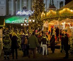 Christmas Market (Pekka Helenius) Tags: christmas market senate square cathedral 5d mark people crowd helsinki winter evening lights finland scandinavia north wonder